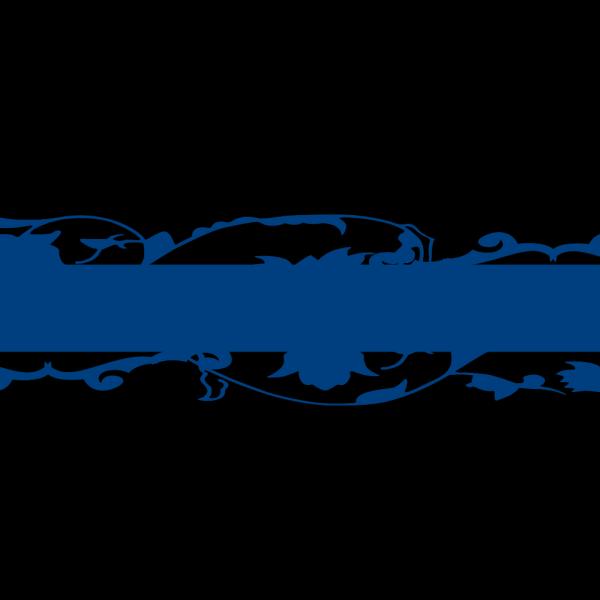 Long Blue Vine Border PNG Clip art