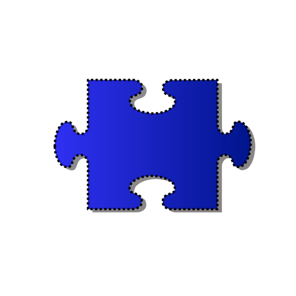 Jigsaw Blue Puzzle Piece Cutout PNG images