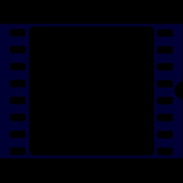 Navy Blue Film Strip PNG Clip art