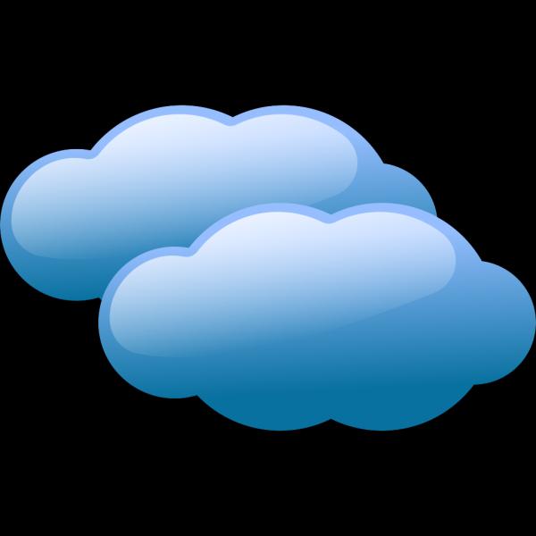 New Blue Clouds PNG Clip art