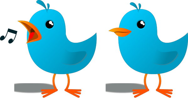 Dusty Blue Bird Profile PNG Clip art