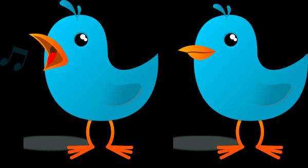 Dusty Blue Bird Profile PNG Clip art