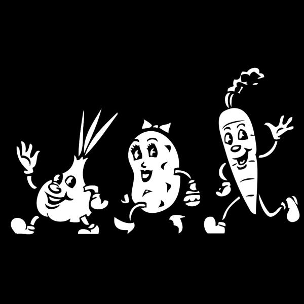 Veggies B W PNG Clip art
