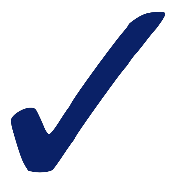 Blue Check Mark - Png PNG Clip art