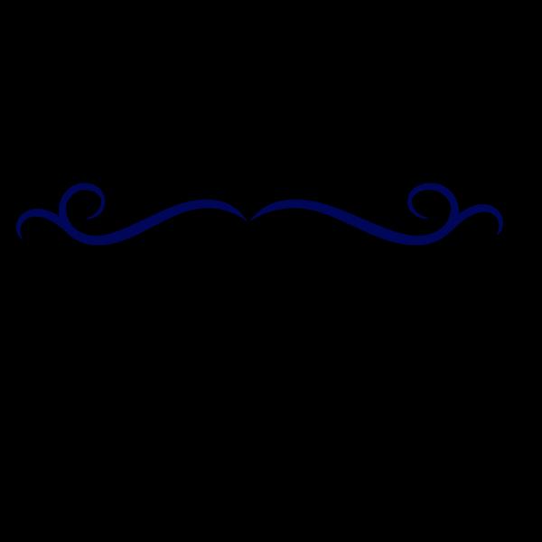 Dark Blue Swirl Divider PNG Clip art