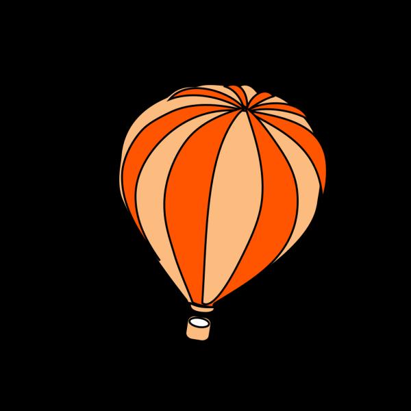 Hot Air Balloon Grey PNG Clip art