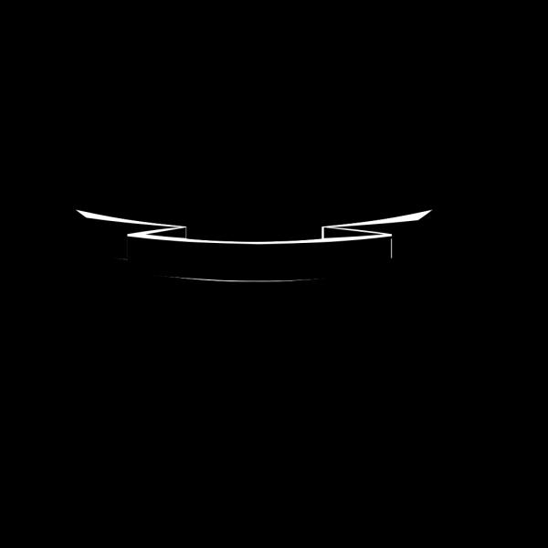 Black & White Ribbon PNG Clip art