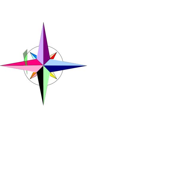 Compass Primary Editable PNG Clip art