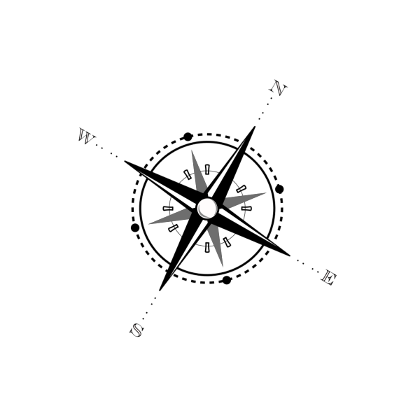 Simple Compass Rose PNG Clip art