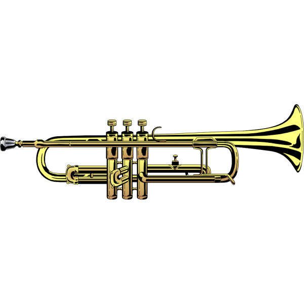 Pocket Trumpet Silhouette PNG images