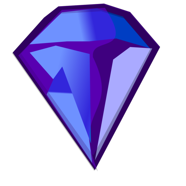 Blue Purple Diamond PNG Clip art