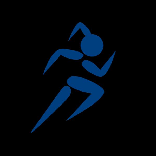 Girl Running Blue PNG Clip art