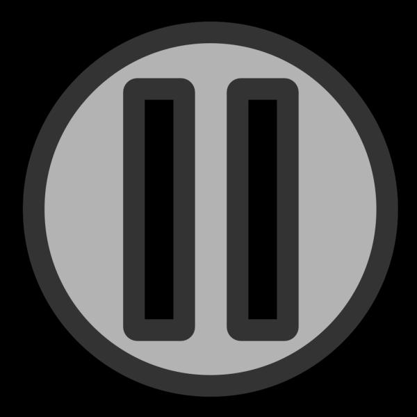 Pause Button Blue PNG Clip art