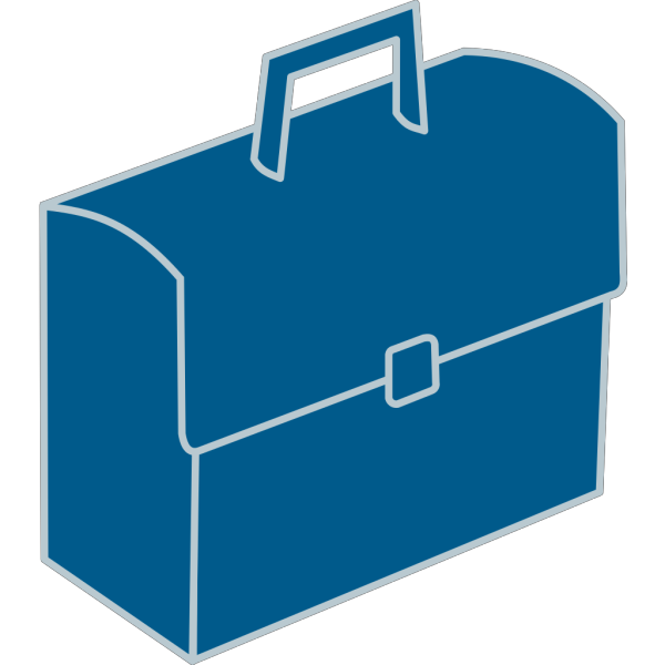 Blue Briefcase PNG images