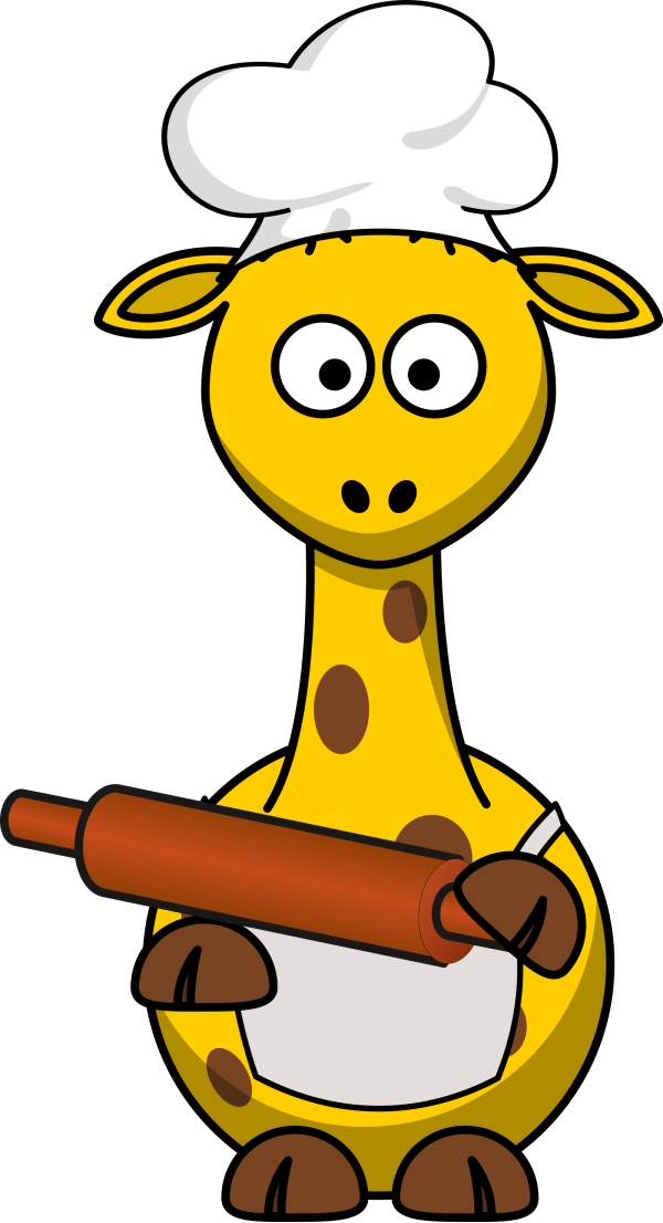 Giraffe-front Blue No Smile PNG Clip art
