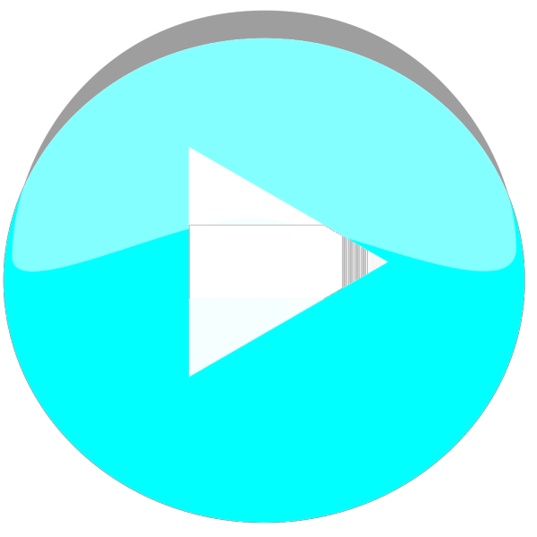 Ocean Blue Play Icon PNG Clip art