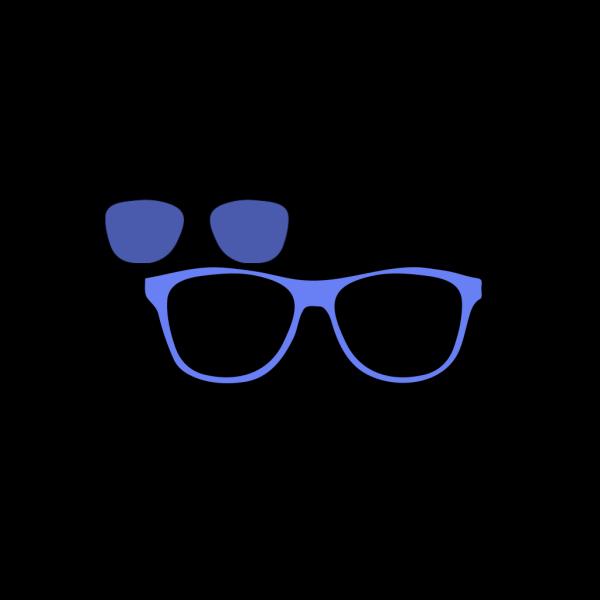 Blue Glasses Owl PNG Clip art
