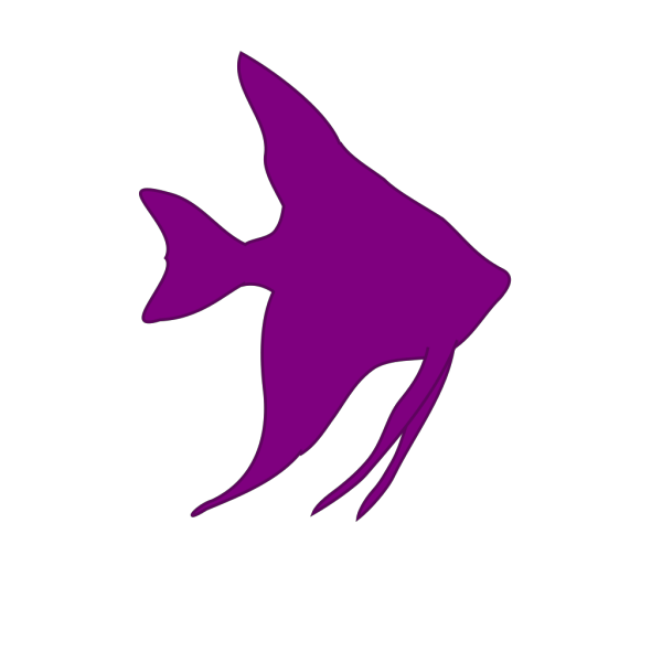 Angelfish Silhouette PNG Clip art