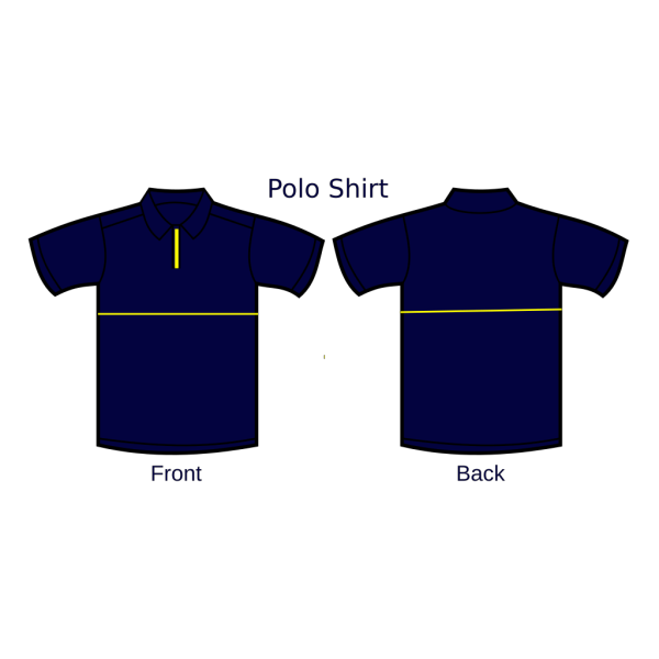 Blue Polo Shirt Front And Back PNG Clip art