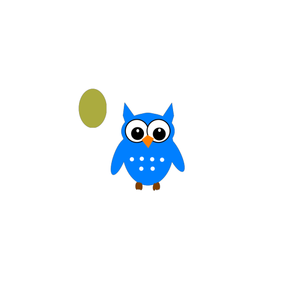 Blue/green Owl PNG clipart