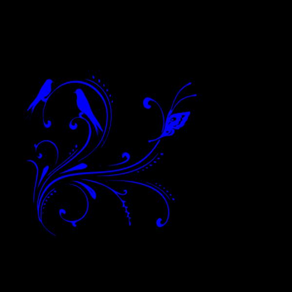 Royal Blue Celtic Corner PNG Clip art