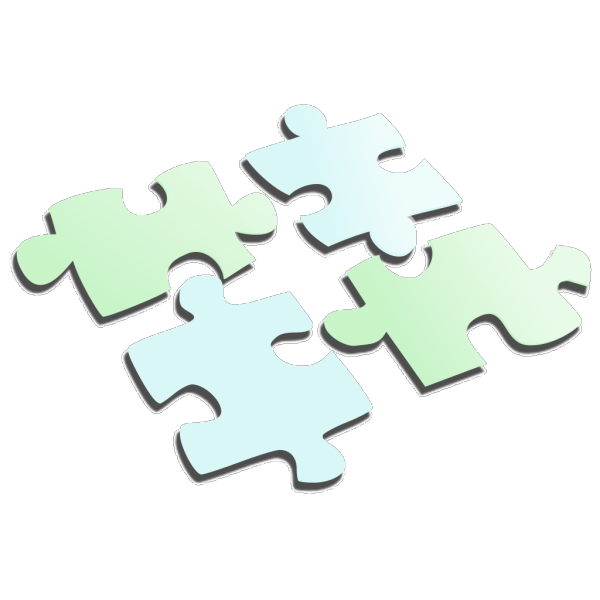 Puzzle Light Blue And Green PNG Clip art