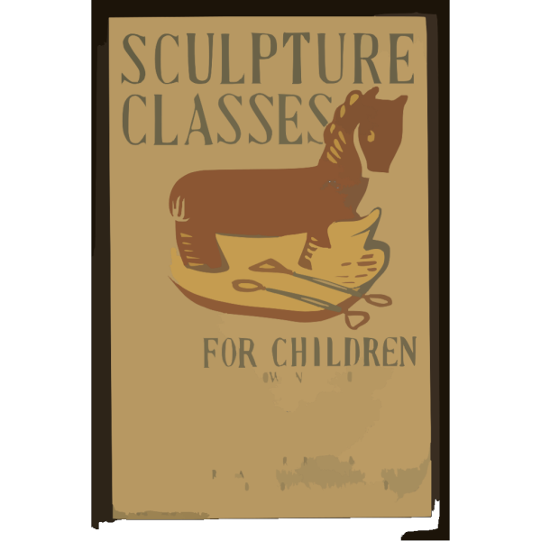 Sculpture Classes For Children Now In Session Under Direction Of Art Teaching Division, Federal Art Project, Works Progress Administration. PNG images