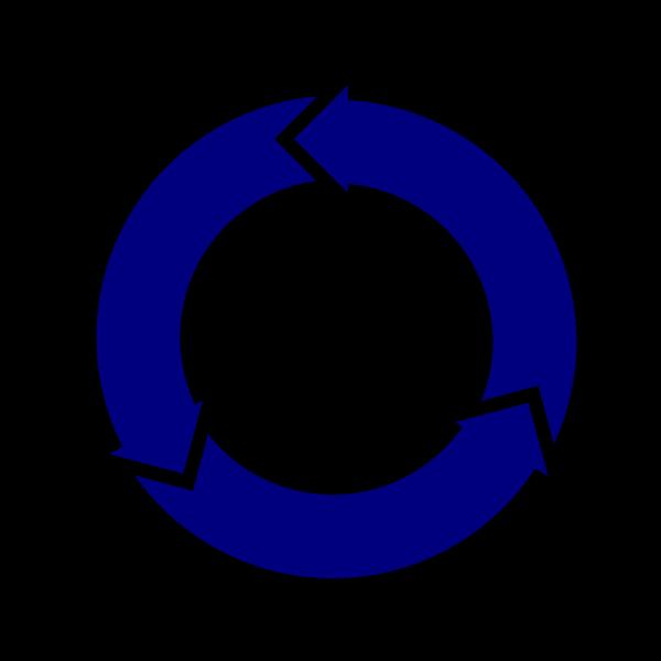 Blue Arrow Circle PNG Clip art