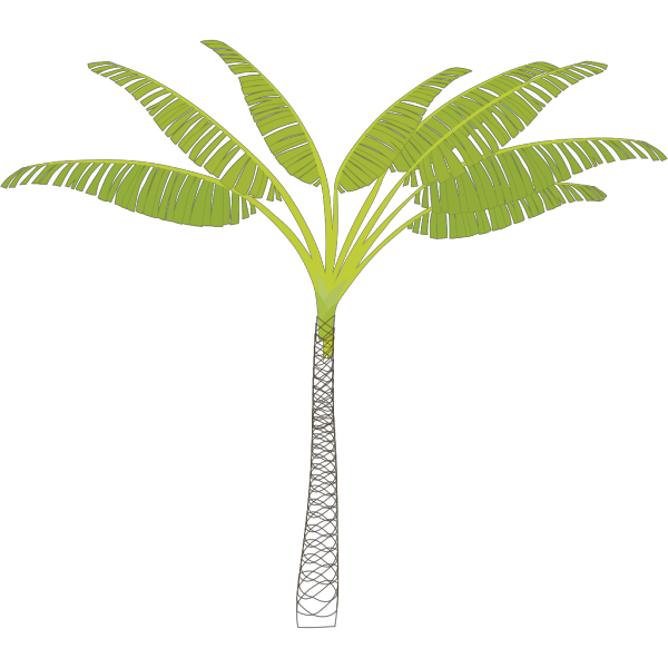 Blue Palm Tree Beach W/sun PNG Clip art