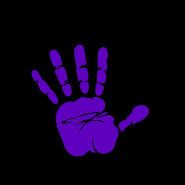 Blue Hand Print PNG Clip art