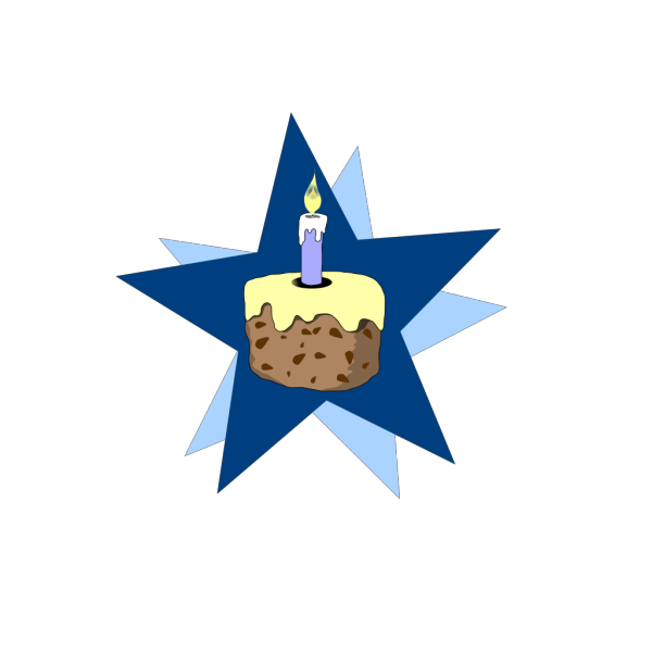 Blue Cake With No Candle PNG Clip art