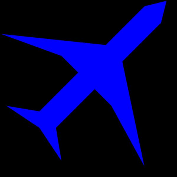 Plane Blue PNG Clip art