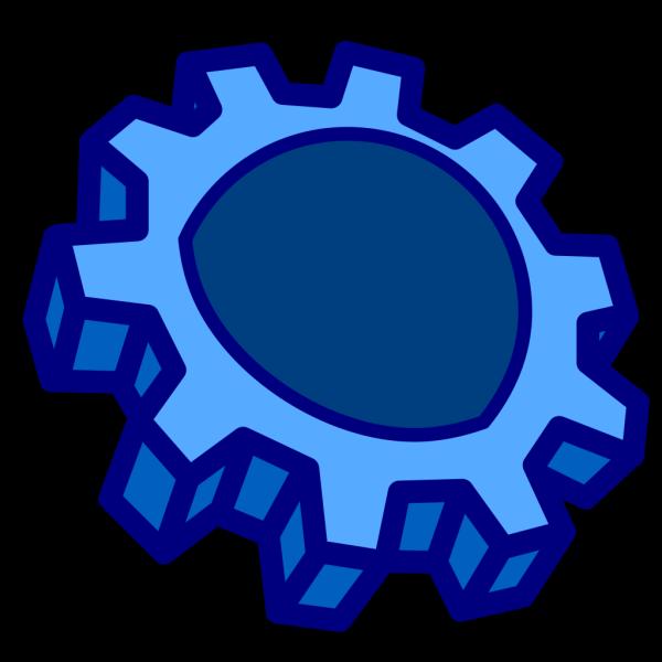 Blue Cog,  PNG Clip art