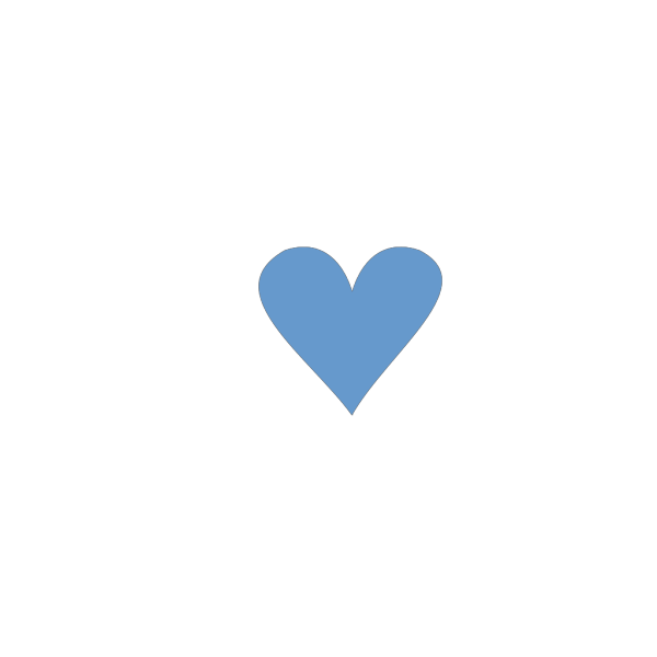 Blue Heart PNG icon