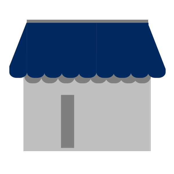 Shop With Awning PNG Clip art