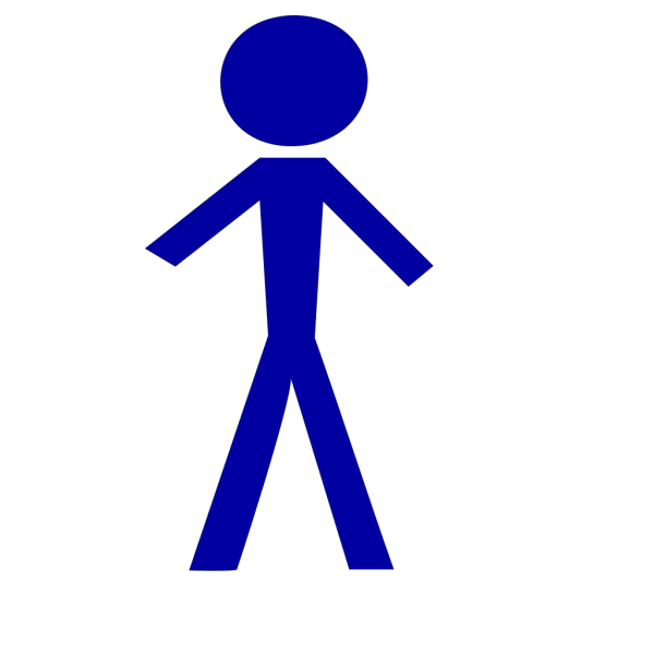 Blue Stick Man Knowledge PNG Clip art