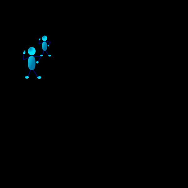 Blue Stick Man Self Evaluation PNG Clip art