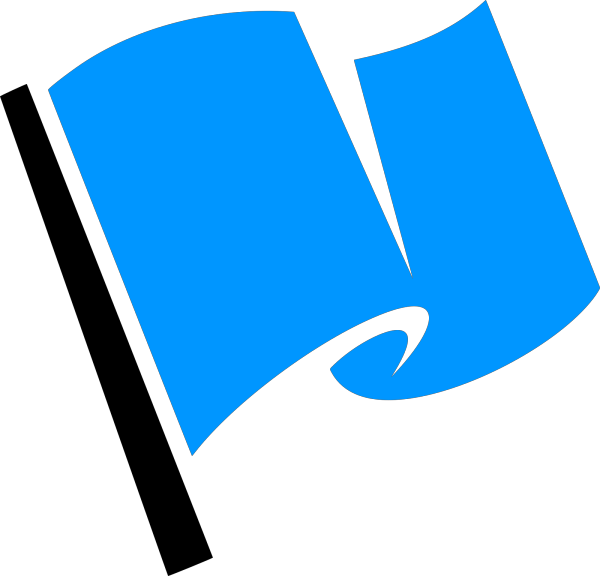 Blue Flag PNG clipart