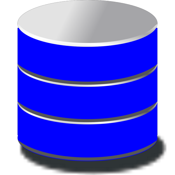 Blue Database PNG Clip art
