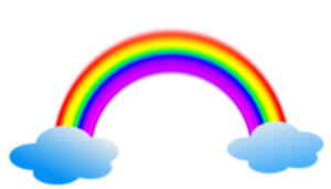 Rainbow In Clouds PNG Clip art