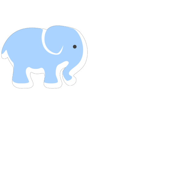 Baby Blue Elephant PNG Clip art