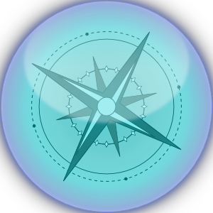 Blue And Black Compass PNG Clip art
