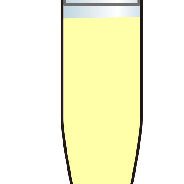 Eppendorf Tube Pale Yellow PNG Clip art