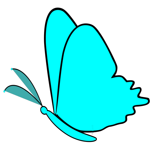 Simple Blue Butterfly PNG Clip art