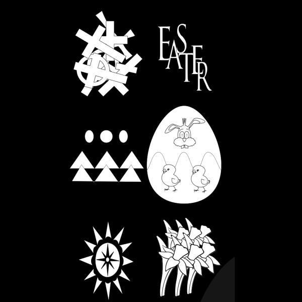 Decorative Easter Eggs PNG Clip art
