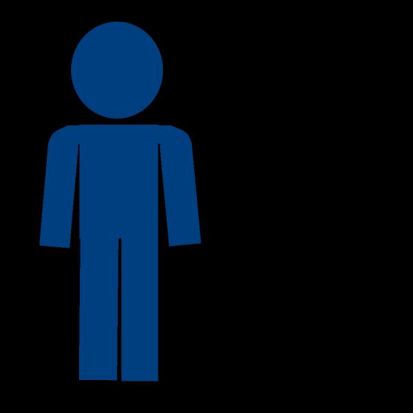 Man Sign Blue No Looking PNG Clip art