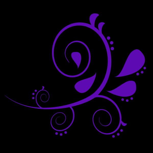 Paisley Curves Dark Blue PNG Clip art