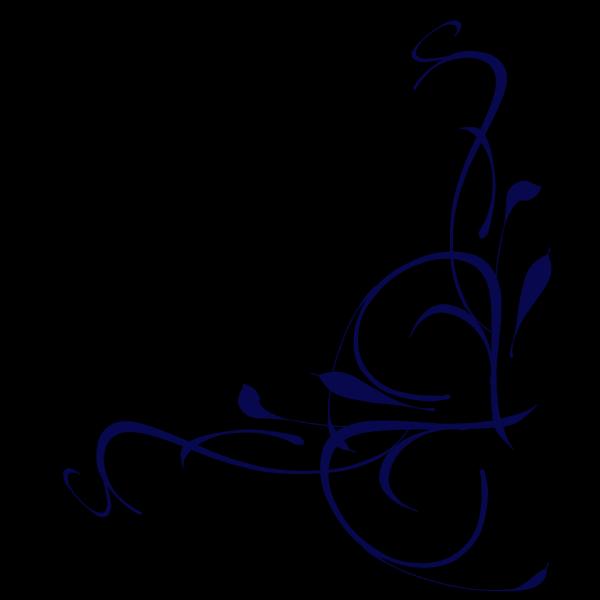 Floral Swirl Blue PNG Clip art