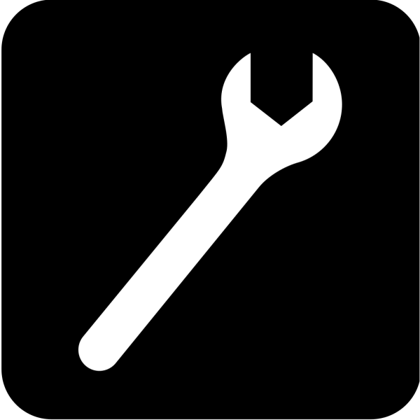 Blue Mechanic Wrench Symbol PNG images