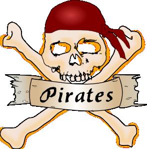 Blue Pirate Skull PNG Clip art